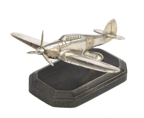 A 'Hawker Hurricane' mascot,