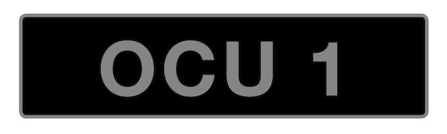 UK Vehicle registration number 'OCU 1',