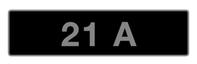 UK Vehicle Registration Number '21 A',
