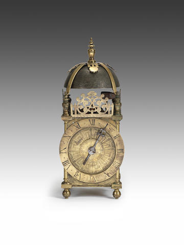 A very rare and horologically important, signed and dated early 17th century lantern clock  William Bowyer, London, 1617
