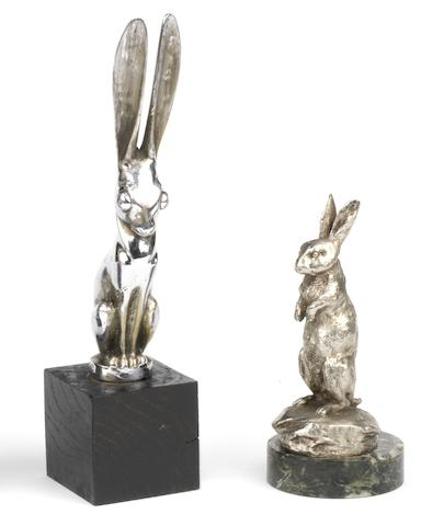 A 'Hare' and a 'Rabbit' mascot, French,   ((2))