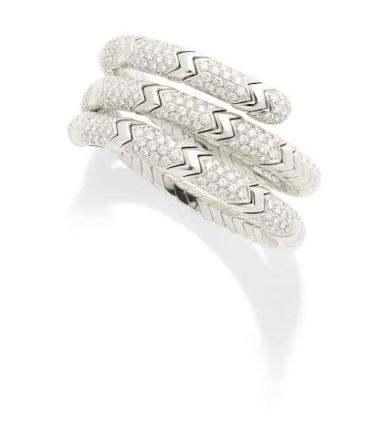 A diamond 'Spiga' bracelet, by Bulgari