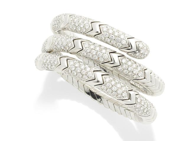 A diamond 'Spiga' bracelet, by Bulgari