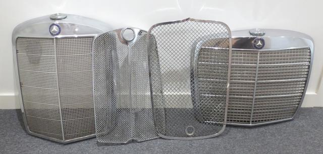 Two post-War Mercedes-Benz radiator grilles,   ((4))