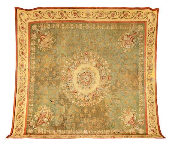 An Aubusson carpet, 19th century 450cm x 447cm