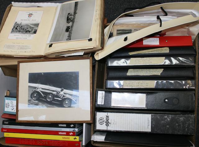Assorted Ferrari literature and other Motorsports ephemera and photographs,  ((Qty))