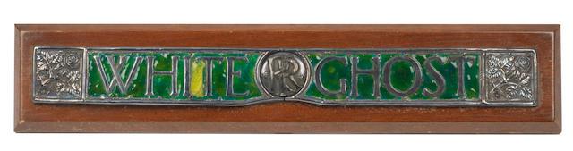 "A Rolls-Royce 40-50Hp enamel name badge ""White Ghost"","