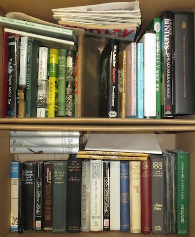 A quantity of Rolls-Royce and Bentley books and literature,   ((Qty))