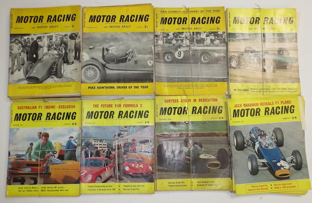 Motor Racing magazine: assorted loose issues 1957-1965,   ((Qty))