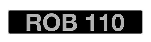 UK VEHICLE REGISTRATION NUMBER 'ROB 110',