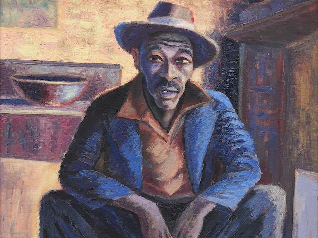 Gerard Sekoto (South African, 1913-1993) Portrait of a man (Lentswana)