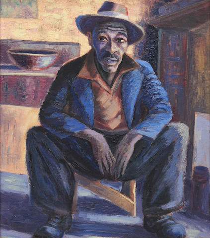 Gerard Sekoto (South African, 1913-1993) Portrait of a man (Lentswana)