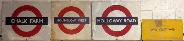 Four London Underground signs,  ((4))