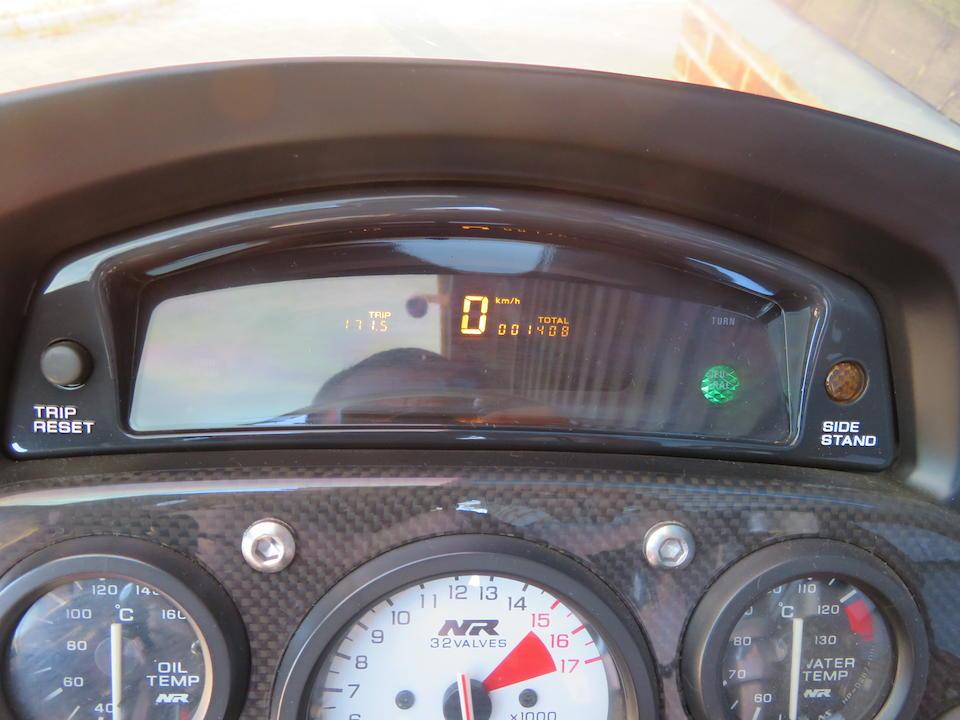 1,408 kilometres from new,1992 Honda NR750 Frame no. RC40-2000079 Engine no. RC40E-2000092