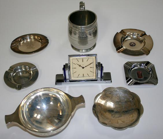 Assorted trophies and awards,  ((12))