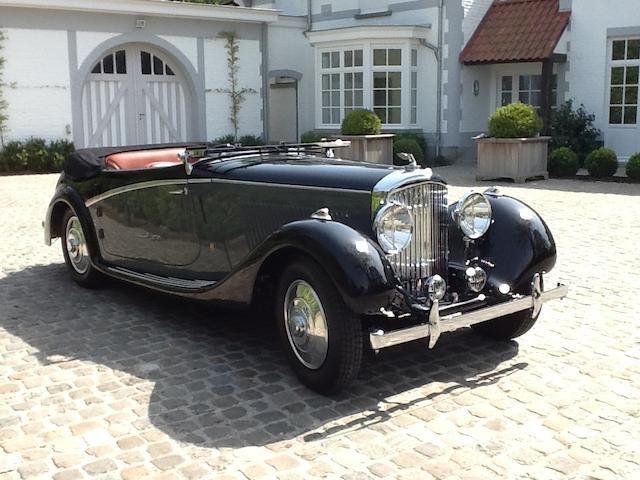 One off coachwork by Antem of Paris, concours restoration,1936  Bentley 4 1/4