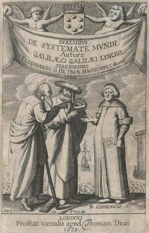 GALILEI (GALILEO) Systema cosmicum... in quo quatuor dialogis, de duobus maximis mundi systematibus, Ptolemaico & Copernicano, Thomas Dicas for D. Pauli, 1663