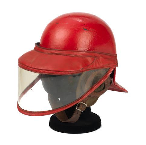 A rare Herbert Johnson 'Lobster Tail' race helmet with visor,