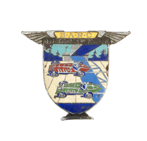 Stanley Sears' BARC Brooklands member's badge, 1930s,