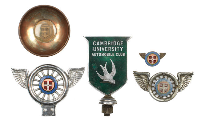 Five Cambridge University Motoring Club member's badges,  ((6))