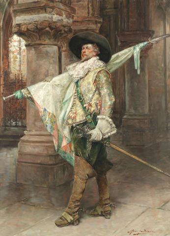 Alex de Andreis (Belgian, 1880-1929) Portrait of a cavalier