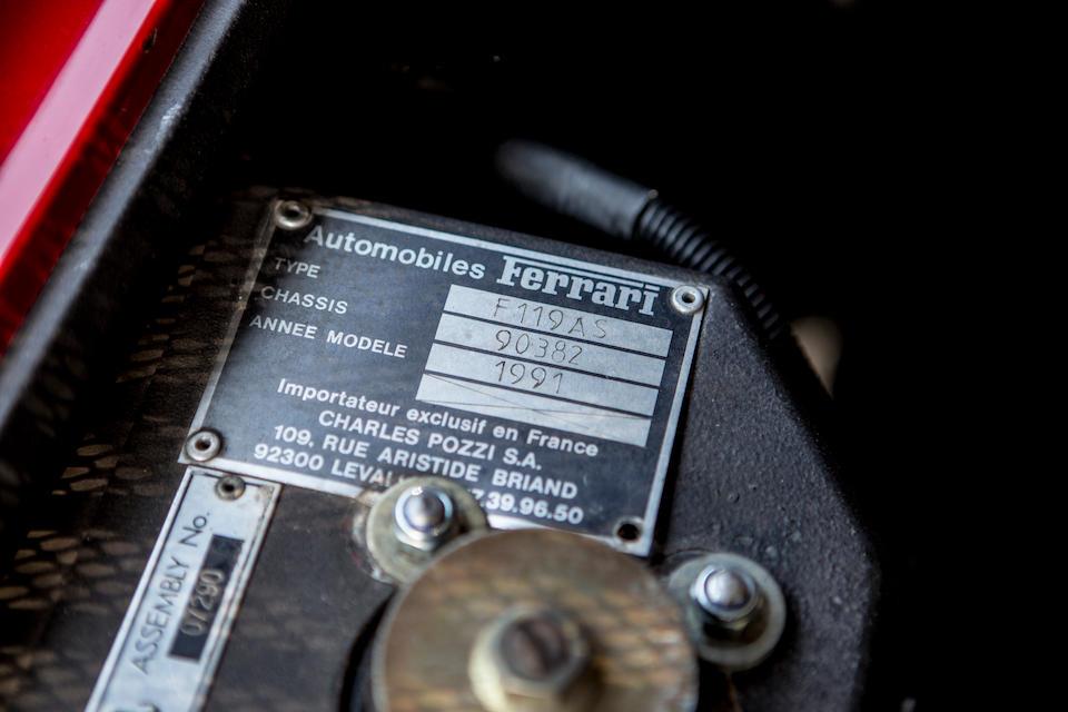 1992 Ferrari 348ts Targa Coupé  Chassis no. ZFFKA36B000090382