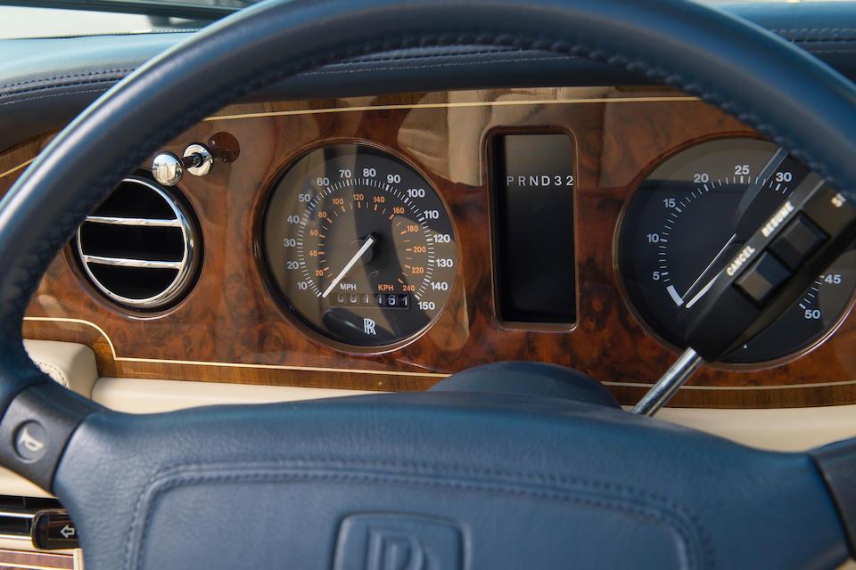 The last Corniche IV built, 1995 Rolls-Royce Corniche IV Convertible  Chassis no. SCAZD02C5SCH50170