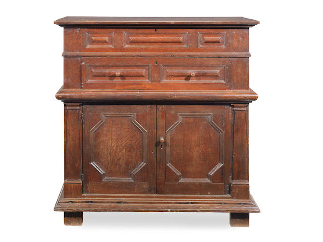 A joined oak chest, with lifting-top, Anglo-Dutch, circa 1680