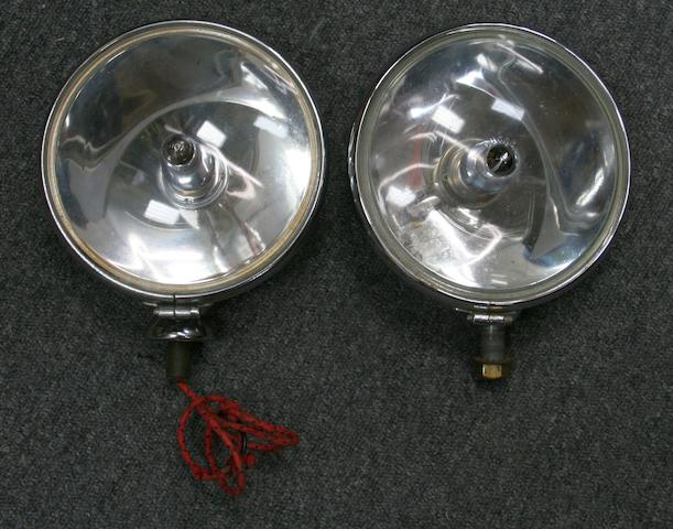 Two different Lucas SLR 700S electric spotlamps,