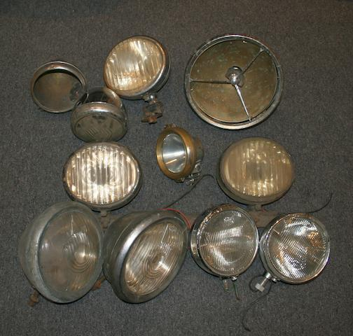 Assorted electric head and fog lamps,   ((Qty))