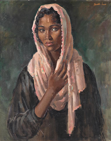 Alfred Neville Lewis (South African, 1895-1972) Portrait of a Malay woman