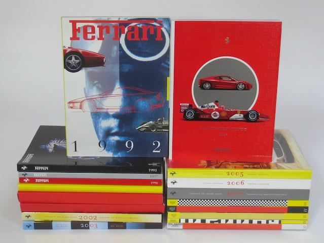 Eighteen Official Ferrari annuals; 1992 to 2014,   ((Qty))