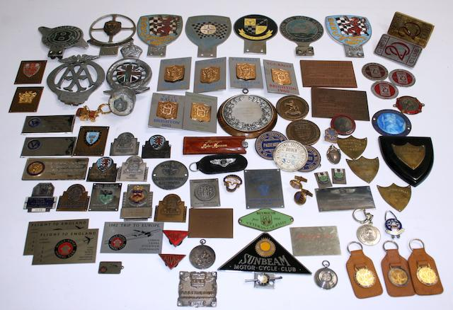 Assorted badges and plaques,  ((Qty))