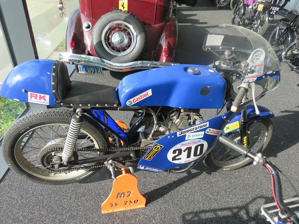 c.1979 MZ 243cc TS250 Racing Motorcycle Frame no. unable to locate Engine no. 2393139