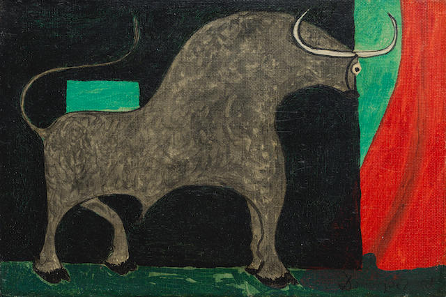 Óscar Domínguez (1906-1957) Taureau (Painted in 1951)
