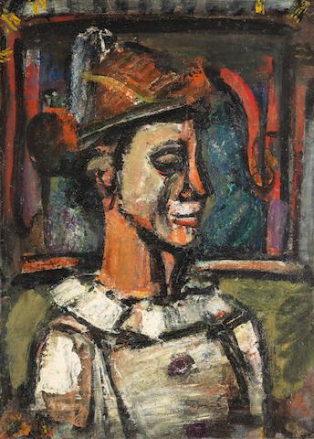 GEORGES ROUAULT (1871-1958) Clown de profil (Painted between 1938 - 1939)