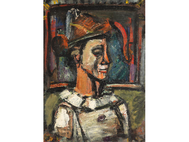 GEORGES ROUAULT (1871-1958) Clown de profil (Painted between 1938 - 1939)