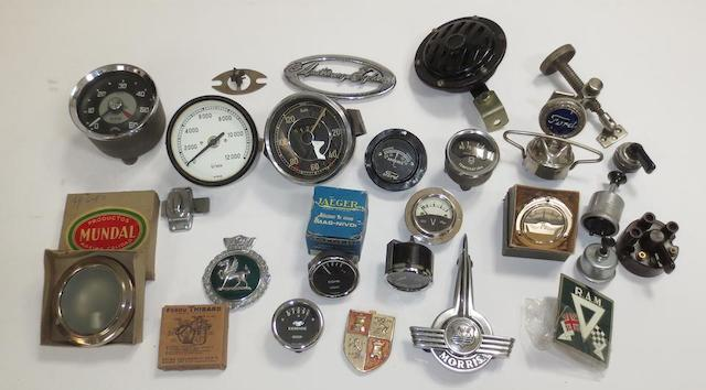 Assorted dials and instruments,   ((Qty))