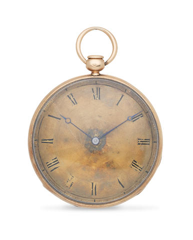 Charles, 272 Rue St Honoré, Paris. An 18K gold key wind quarter repeating open face pocket watch Circa 1830