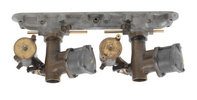 A pair of SU model G5 Sloper carburettors to suit vintage Bentley,  ((Qty))