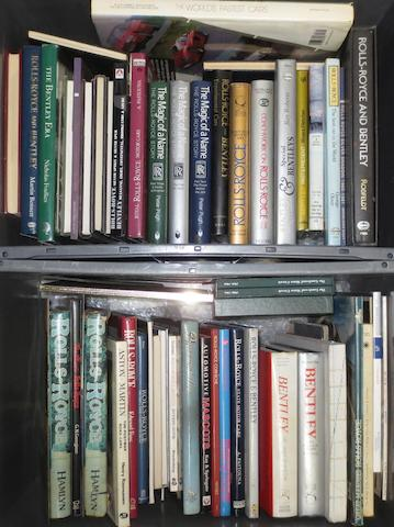 A quantity of mainly Rolls-Royce and Bentley books and literature,   ((Qty))
