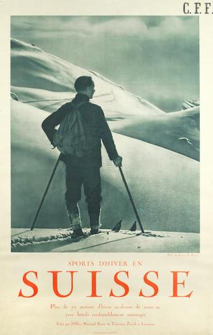 A. STEINER (Photo) SPORTS D'HIVER EN SUISSE