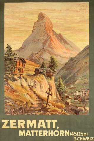 FRANCOIS GOS (1880-1942) ZERMATT, MATTERHORN