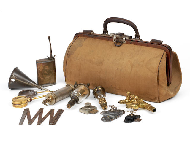 Assorted Edwardian motoring accessories,   ((Qty))