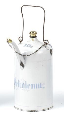 A 3 Litre Petroleum priming kettle,