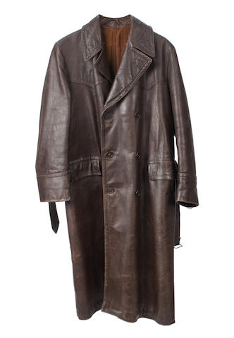 A Motorist's leather coat,    ((2))