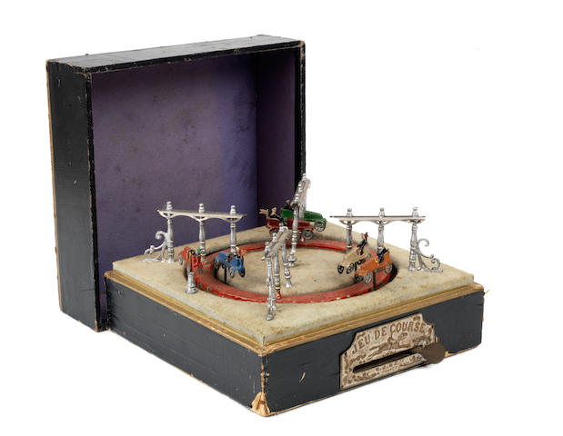 "A ""Jeu du Corse"" boxed mechanical game by M J & Cie, French, circa 1908,"