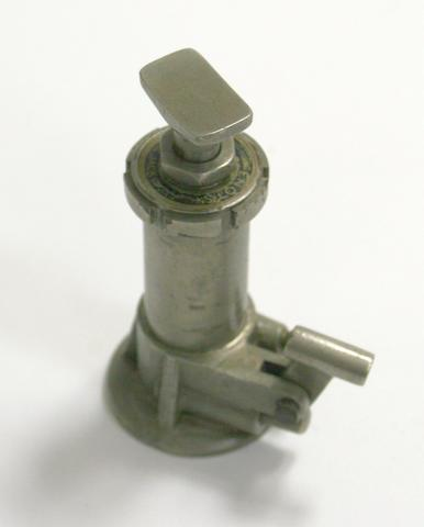 A miniature Enots hydraulic jack, a salesman's working demonstration model,