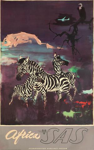 OTTO NIELSEN (1916-2000) AFRICA BY SAS. Elephants