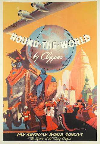 MARK VON ARENBURG ROUND-THE-WORLD BY Clipper, PAN AMERICAN WORLD AIRWAYS.